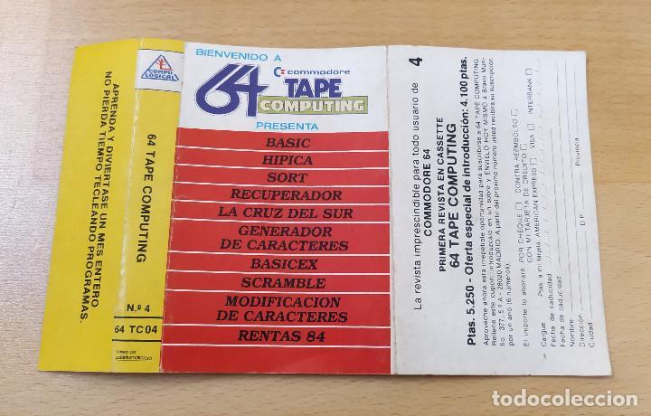 Videojuegos y Consolas: JUEGO UTILIDADES COMMODRE CASSETTE 64 TAPE COMPUTING Nº4 ESTADO ACEPTABLE - Foto 3 - 184451080