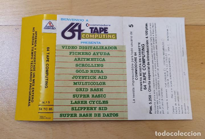 Videojuegos y Consolas: JUEGO UTILIDADES COMMODORE 64 CASSETTE 64 TAPE COMPUTING Nº5 ESTADO ACEPTABLE - Foto 3 - 184451677