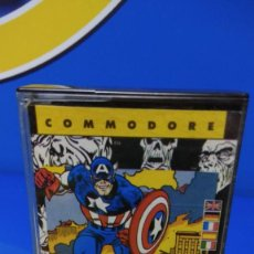 Videojuegos y Consolas: VIDEO JUEGO COMMODORE CAPTAIN AMERICA CBM 64/128 - ERBE SOFTWARE - 1987 - MARVEL. Lote 192097735