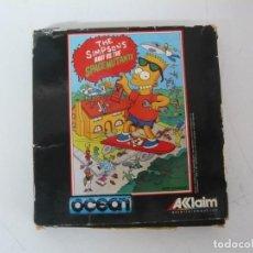 Videojuegos y Consolas: THE SIMPSONS - BART VS SPACE M / CAJA CARTÓN / COMMODORE 64 - C64 / RETRO VINTAGE / CASSETTE - CINTA. Lote 197757022