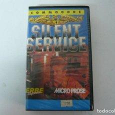 Videojuegos y Consolas: SILENT SERVICE / ESTUCHE / COMMODORE 64 - C64 / RETRO VINTAGE / CASSETTE - CINTA. Lote 197758531