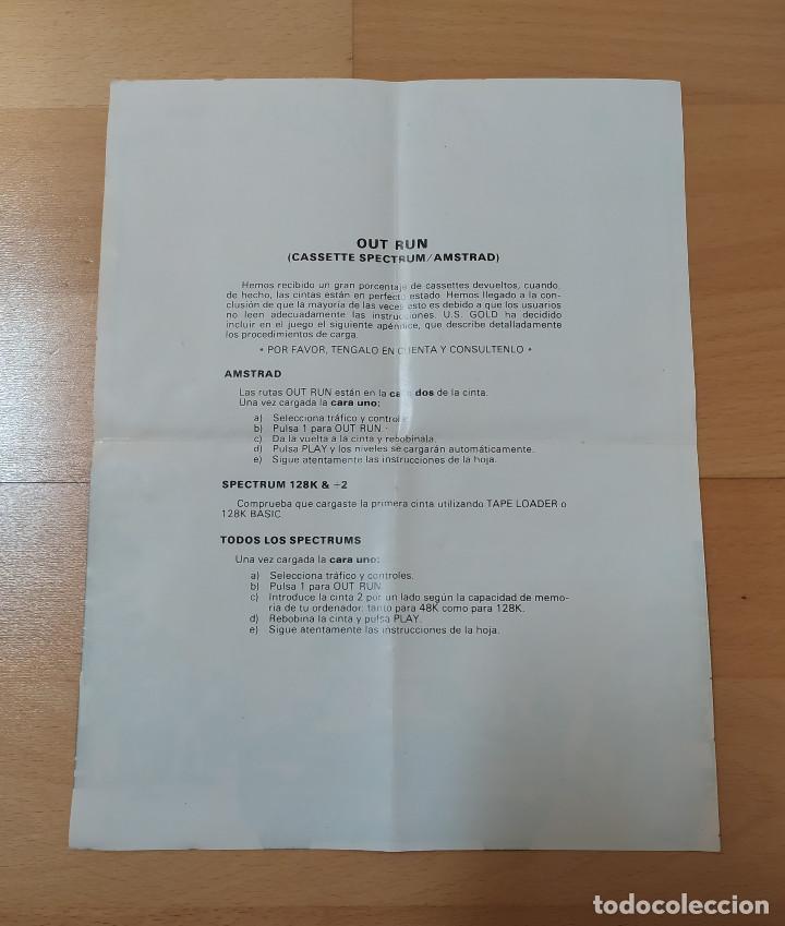 Videojuegos y Consolas: JUEGO CASSETTE OUT RUN PARA COMMODORE FUNCIONANDO PERFECTAMENTE - Foto 7 - 184450660