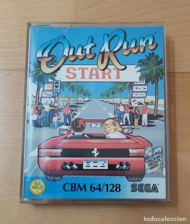 JUEGO CASSETTE OUT RUN PARA COMMODORE FUNCIONANDO PERFECTAMENTE (Juguetes - Videojuegos y Consolas - Commodore)