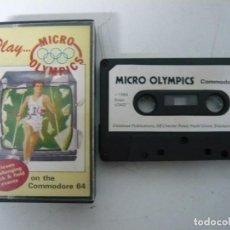 Videojuegos y Consolas: MICRO OLYMPICS / JEWEL CASE / COMMODORE 64 - C64 / RETRO VINTAGE / CASSETTE - CINTA. Lote 200779121