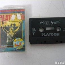 Videojuegos y Consolas: PLATOON / JEWEL CASE / COMMODORE 64 - C64 / RETRO VINTAGE / CASSETTE - CINTA. Lote 200779141