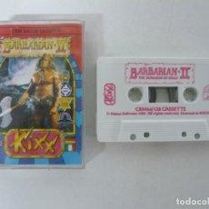 Videojuegos y Consolas: BARBARIAN II / JEWEL CASE / COMMODORE 64 - C64 / RETRO VINTAGE / CASSETTE - CINTA. Lote 204697005