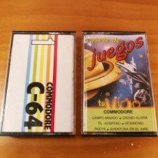 Videojuegos y Consolas: LOTE CASSETTE CASSETTES CASETE CASETES COMMODORE TU MICRO C-64. Lote 204748257