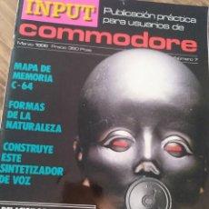 Videojuegos y Consolas: REVISTA INPUT COMMODORE INFORMATICA ELECTRONICA PLACA PROGRAMACION. Lote 205563528