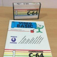Videojuegos y Consolas: C 64 - REVISTA COMMODORE VIDEO BASIC Nº 1 CON SU CASSETTE DE UTILIDADES SOFTWARE. AÑO 1985. Lote 206371437