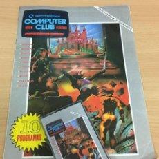 Videojuegos y Consolas: C 64 - REVISTA COMMODORE COMPUTER CLUB Nº 1 CON SU CASSETTE DE JUEGOS. AÑO 1985. Lote 206385106