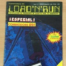 Videojuegos y Consolas: C 64 - REVISTA COMMODORE LOAD A N D RUN Nº 1 CON SU CASSETTE DE JUEGOS. FEBRERO MARZO 1985. Lote 206448916
