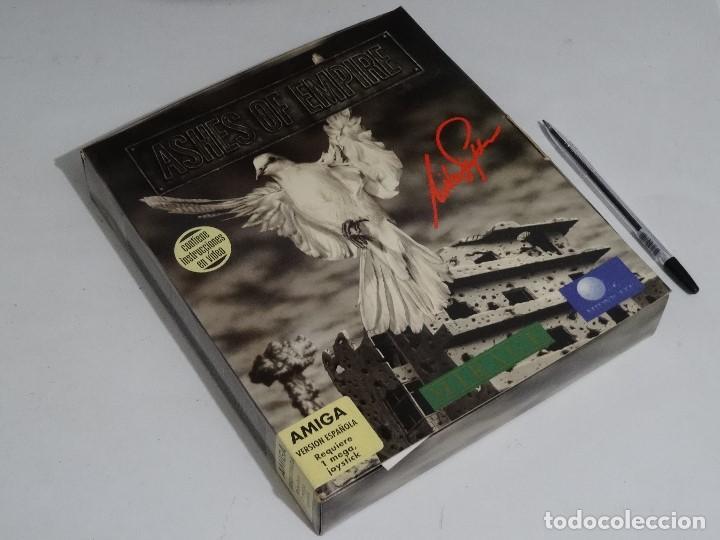 COMMODORE AMIGA - ASHES OF EMPIRE ED. ESPAÑOLA ÚNICA EN EBAY BIG BOX RARE (Juguetes - Videojuegos y Consolas - Commodore)
