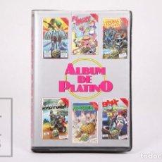 Videojuegos y Consolas: ESTUCHE CON 6 VIDEOJUEGOS / JUEGOS PARA COMMODORE 64/128 - ÁLBUM DE PLATINO - CODE MASTERS, 1987. Lote 206893243