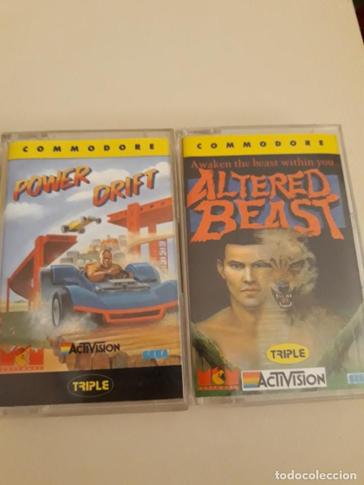 ALTERED BEAST Y POWER DRIFT ACTIVISION COMMODORE (Juguetes - Videojuegos y Consolas - Commodore)