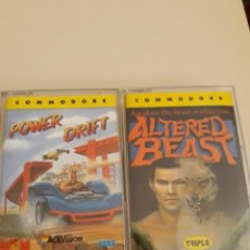 Videojuegos y Consolas: ALTERED BEAST Y POWER DRIFT ACTIVISION COMMODORE. Lote 207165657