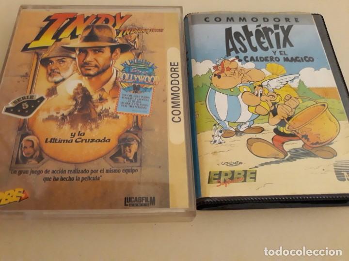 COMMODORE INDY Y LA ULTIMA CRUZADA Y ASTERIX Y EL CALDERO MAGICO (Juguetes - Videojuegos y Consolas - Commodore)