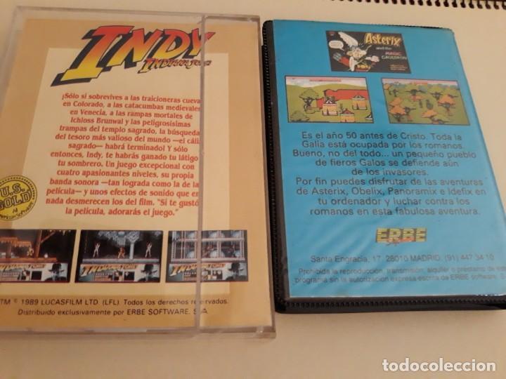 Videojuegos y Consolas: Commodore Indy y la ultima cruzada y Asterix y el caldero magico - Foto 2 - 207178790