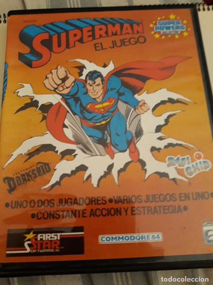 SUPERMAN EL JUEGO COMMODORE 64 ESTUCHE ZAFIRO. (Juguetes - Videojuegos y Consolas - Commodore)