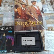 Videojuegos y Consolas: JUEGO LOS INTOCABLES + INSTRUCCIONES COMMODORE 64 + POSTER-1989 ERBE OCEAN SOFTWARE. Lote 207967582