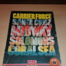 Videojuegos y Consolas: CARRIER FORCE - SANTA CRUZ - MIDWAY - SOLOMONS - CORAL SEA - COMMODORE 64 / 128. Lote 217628222