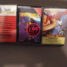 Videojuegos y Consolas: LOTE 3 CASSETES JUEGOS Y APLICACIONES COMMODORE 64 TAPE COMPUTING, MASTERTRONIC, TU MICRO. Lote 219982571
