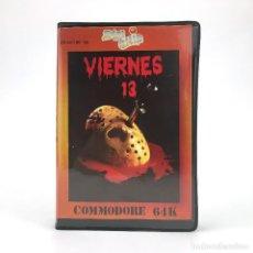 Videojuegos y Consolas: VIERNES 13 ESTUCHE ZAFIRO ZAFI CHIP ESPAÑA DOMARK 1986 JASON VOORHEES CBM COMMODORE 64 C64 CASSETTE. Lote 228526125