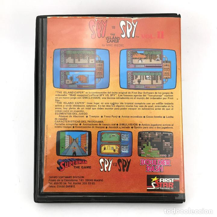 Videojuegos y Consolas: SPY VS SPY THE ISLAND CAPER. ESTUCHE XL ZAFIRO ESPAÑA ZAFI CHIP FIRST STAR COMMODORE 64 C64 CASSETTE - Foto 3 - 229635325