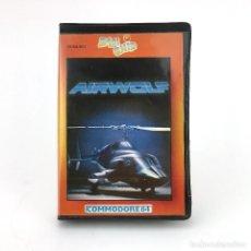 Videojuegos y Consolas: AIRWOLF ESTUCHE ZAFI CHIP ELITE SERIE TV LOBO DEL AIRE HELICOPTERO CBM COMMODORE 64 128 C64 CASSETTE. Lote 230432070