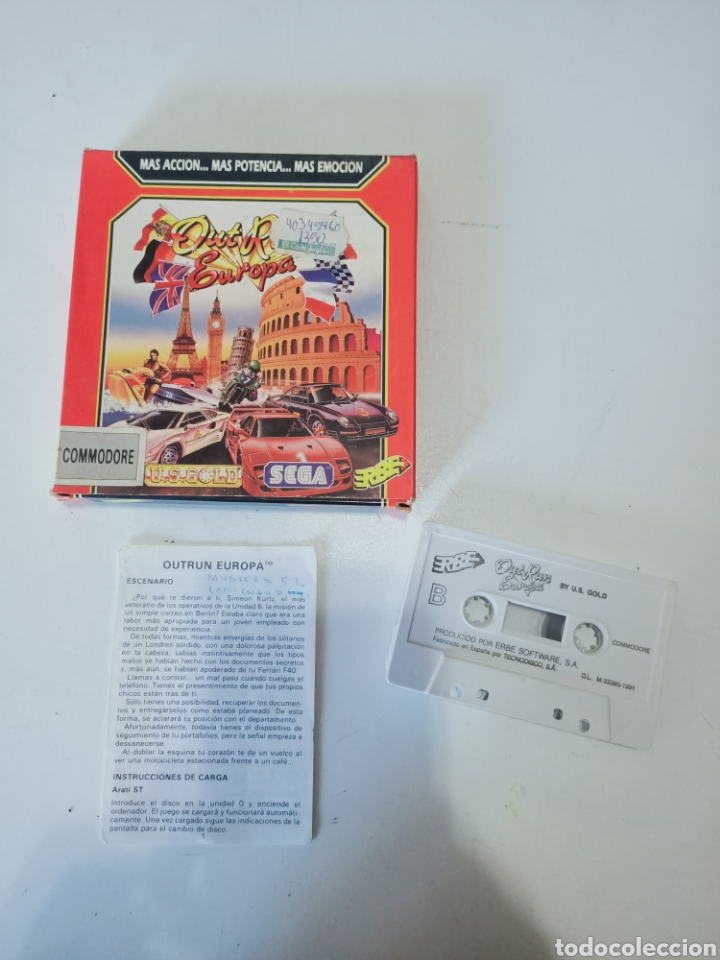 COMMODORE AUT RUN EUROPA (Juguetes - Videojuegos y Consolas - Commodore)