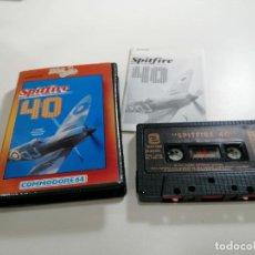 Videojuegos y Consolas: SPITFIRE 40 - JUEGO COMMODORE 64 C64 COMPLETO - ZAFIRO SOFTWARE DIVISION 1986 - EXCELENTE ESTADO. Lote 231415300