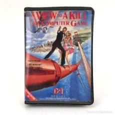 Videojuegos y Consolas: JAMES BOND PANORAMA PARA MATAR EDICION ESPAÑOLA SERMA 007 A VIEW TO A KILL COMMODORE 64 C64 CASSETTE. Lote 231569075