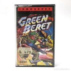 Videojuegos y Consolas: GREEN BERET / ERBE LOMO NEGRO / IMAGINE KONAMI 1986 BOINAS VERDES CBM COMMODORE 64 128 C64 CASSETTE. Lote 233230420