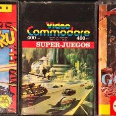 Videojuegos y Consolas: LOTE 3 JUEGOS COMMODORE CASSETTE. Lote 219669648