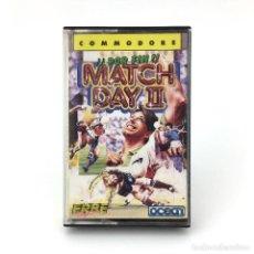 Videojuegos y Consolas: MATCH DAY II ERBE LOMO AMARILLO OCEAN FUTBOL SOCCER FOOTBALL 1987 CBM COMMODORE 64 128 C64 CASSETTE. Lote 233618130