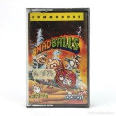 Videojuegos y Consolas: MADBALLS PRECINTADO ERBE LOMO AMARILLO OCEAN DENTON BOLA MAD BALLS CBM COMMODORE 64 128 C64 CASSETTE. Lote 233618405