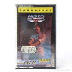 Videojuegos y Consolas: LAZER TAG PRECINTADO ERBE LOMO AMARILLO GO PROBE PAINTBALL DEPORTE CBM COMMODORE 64 128 C64 CASSETTE. Lote 233618645