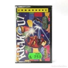 Videojuegos y Consolas: KRAKOUT COMPLETO ERBE LOMO AMARILLO GREMLIN GRAPHICS ARKANOID BREAKOUT COMMODORE 64 128 C64 CASSETTE. Lote 233618705