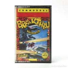 Videogiochi e Consoli: BREAKTHRU / ERBE LOMO AMARILLO U.S. GOLD DATA EAST SHOOTER JET FIGHTER COMMODORE 64 128 C64 CASSETTE. Lote 233619790