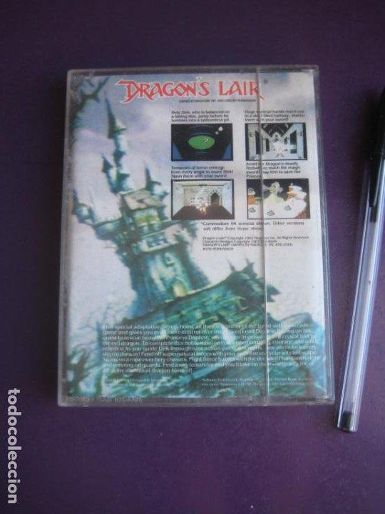 Videojuegos y Consolas: DRAGONS LAIR - COMMODORE 64 - SOFTWARE PROJECTS - VIDEOJUEGO VINTAGE - CINE 80S - POCO USO - Foto 2 - 235930920