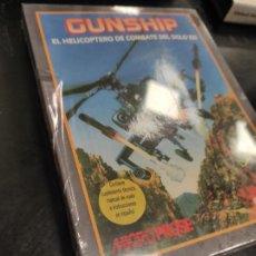 Videojuegos y Consolas: GUNSHIP. EL HELICOPTERO DE COMBATE DEL SIGLO XXI. COMMODORE - NUEVO PRECINTADO. Lote 236258030