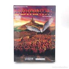 Videojuegos y Consolas: LABYRINTH CAJA REPRO GRANDE CALIDAD MAXIMA JUEGO DAVID BOWIE LUCASFILM C64 COMMODORE 64 128 DISKETTE. Lote 236296440