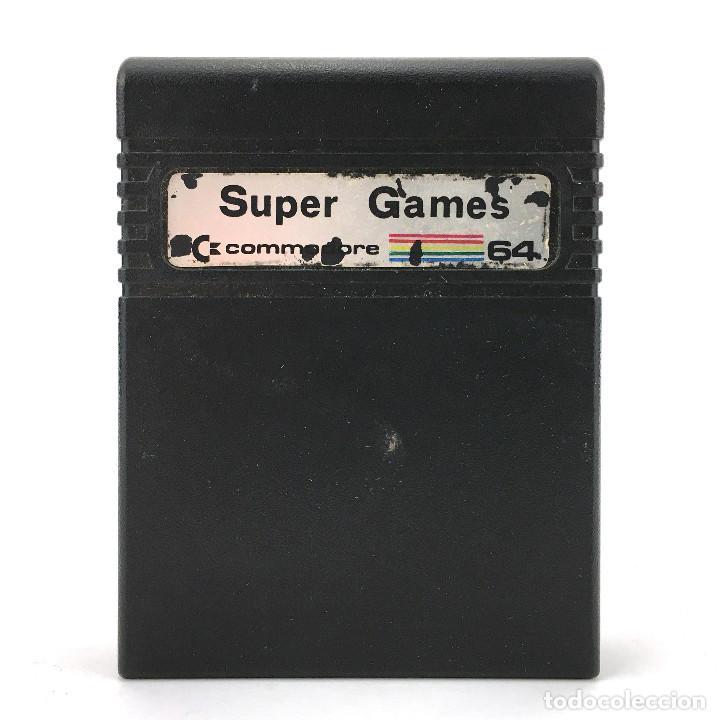 SUPER GAMES CARTUCHO COMMODORE 64 JUEGOS COLOSSUS CHESS 2 INTERNATIONAL FOOTBALL SILICON SYBORGS C64 (Juguetes - Videojuegos y Consolas - Commodore)
