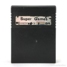 Videojuegos y Consolas: SUPER GAMES CARTUCHO COMMODORE 64 JUEGOS COLOSSUS CHESS 2 INTERNATIONAL FOOTBALL SILICON SYBORGS C64. Lote 243842765