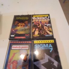 Videojuegos y Consolas: M-14 LOTE DE 4 JUEGOS ORDENADOR COMMODORE SIGMA 7 THE GREAT ESCAPE DRUID MATCH POINT. Lote 246020030