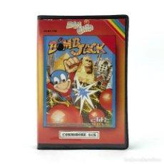 Videojuegos y Consolas: BOMB JACK ESTUCHE ZAFI CHIP ZAFIRO ELITE PLATAFORMAS EGIPTO RETRO CBM COMMODORE 64 128 C64 CASSETTE. Lote 249156765