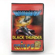 Videojogos e Consolas: BLACK THUNDER. ESTUCHE MICROBYTE QUICKSILVA ESPAÑA 1985 MICRO BYTE CBM COMMODORE 64 128 C64 CASSETTE. Lote 249246330