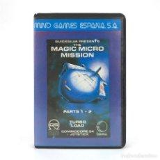 Videojuegos y Consolas: MAGIC MICRO MISSION ESTUCHE MIND GAMES ESPAÑA QUICKSILVA 1985 ITV CBM COMMODORE 64 128 C64 CASSETTE. Lote 249249905