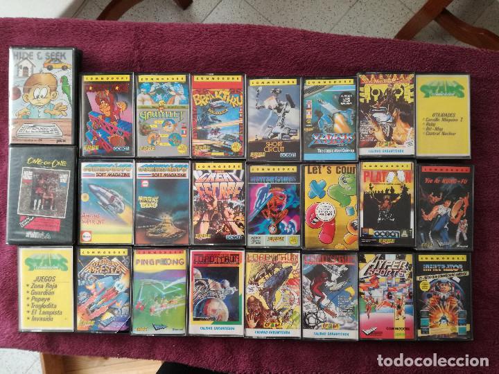 LOTE 24 JUEGOS COMMODORE (Juguetes - Videojuegos y Consolas - Commodore)