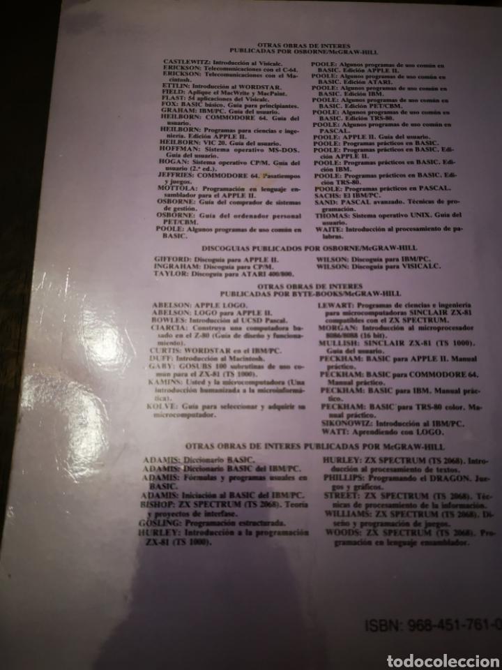 Videojuegos y Consolas: LIBRO/ APLIQUE EL DBASE II.. COMMODORE/AMSTRAD/SPECTRUM. - Foto 5 - 252394355