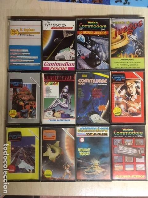 LOTE DE 12 CINTAS CASSETTE JUEGOS Y SOFTWARE COMMODORE (Juguetes - Videojuegos y Consolas - Commodore)
